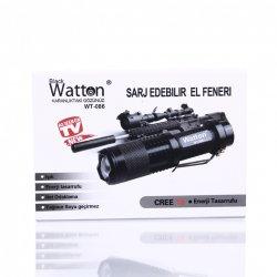 Orjinal 800 Lümen T6 Şarjlı EL Feneri Watton Wt-086